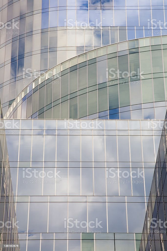 Crystal  clear modern building royalty-free stock photo