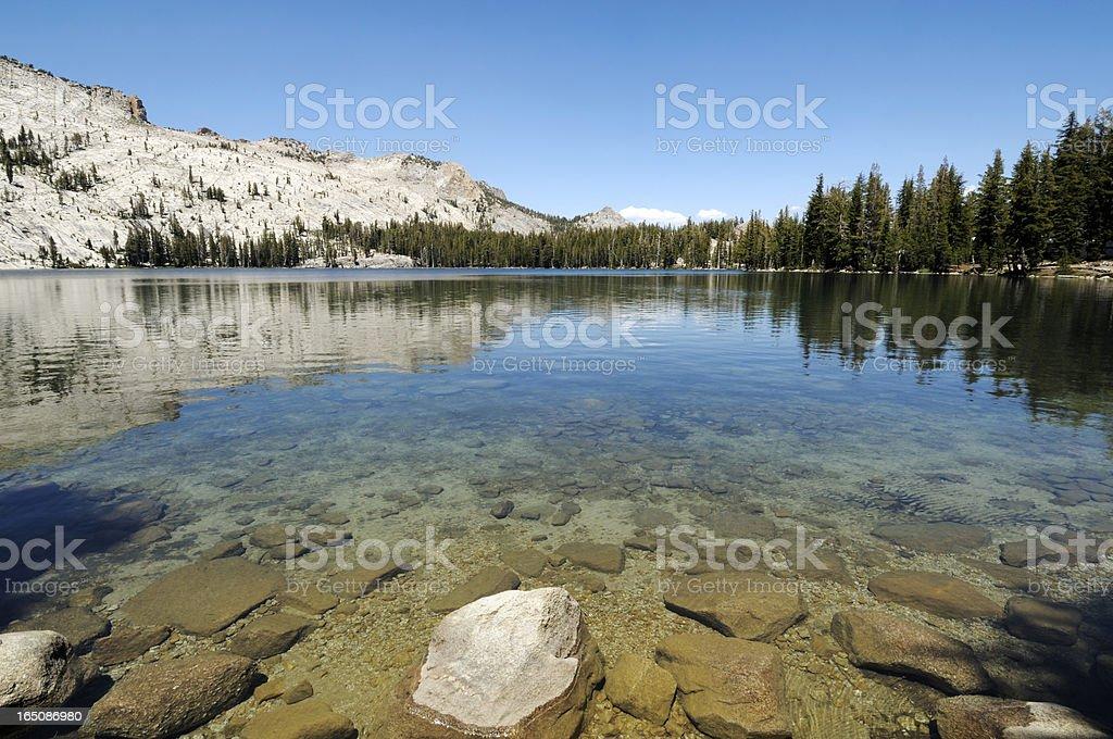 Crystal Clear Mountain Lake stock photo