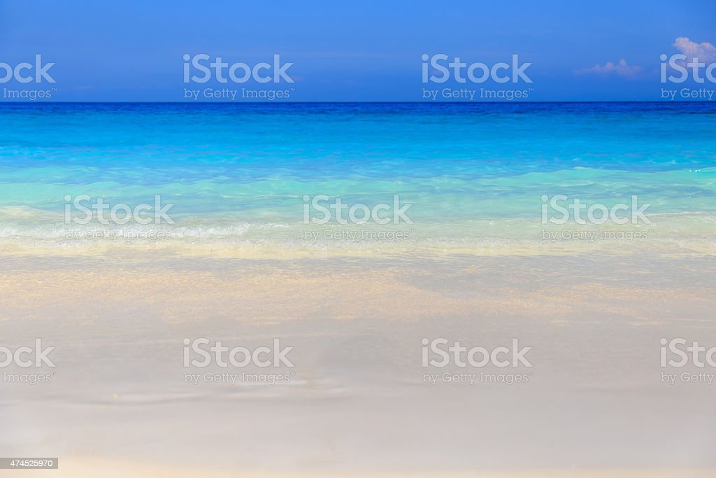 Crystal clear sea of tropical island stock photo