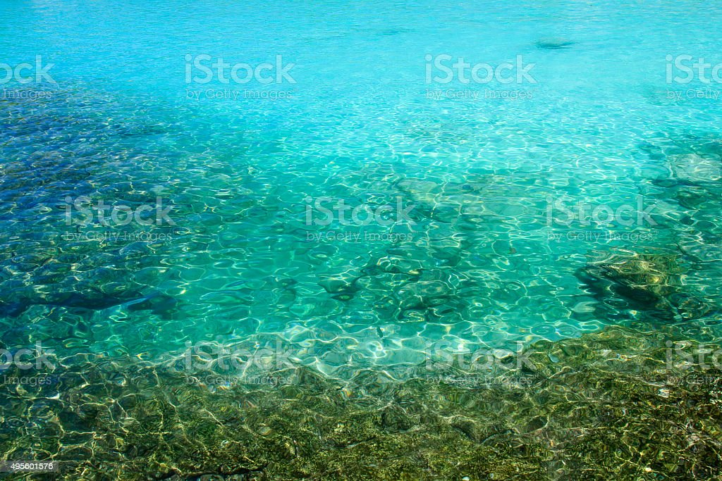 Crystal clear sea water at Racha Island, Phuket, Thailand. stock photo