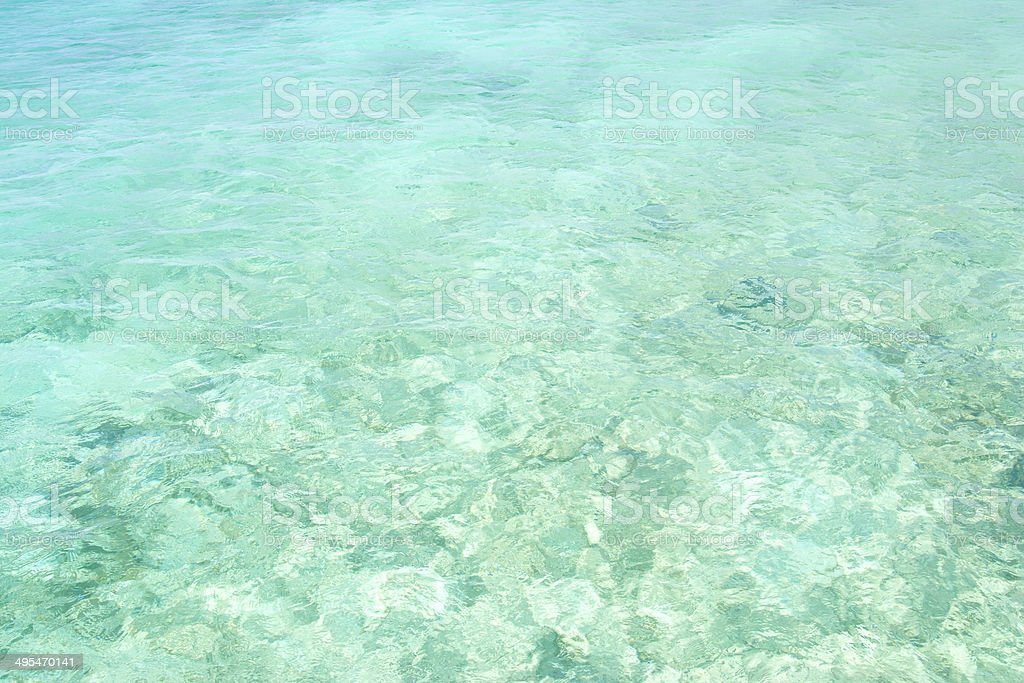 Crystal clear turquoise water stock photo