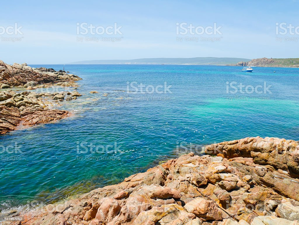 Crystal clear water in Canal Rocks stock photo
