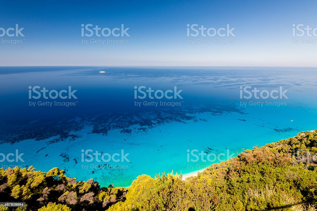 Crystal clear water paradise stock photo