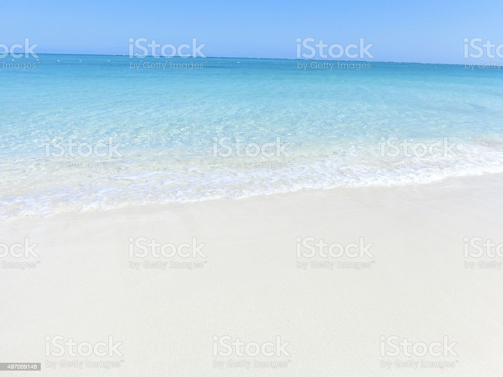 Crystal clear waters on Grace Bay Beach, Turks and Caicos stock photo