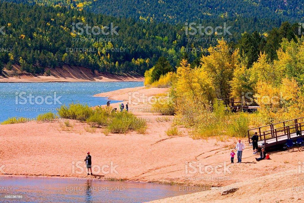 Crystal Creek Autumn stock photo