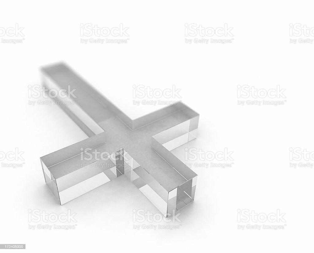 Crystal Cross royalty-free stock photo