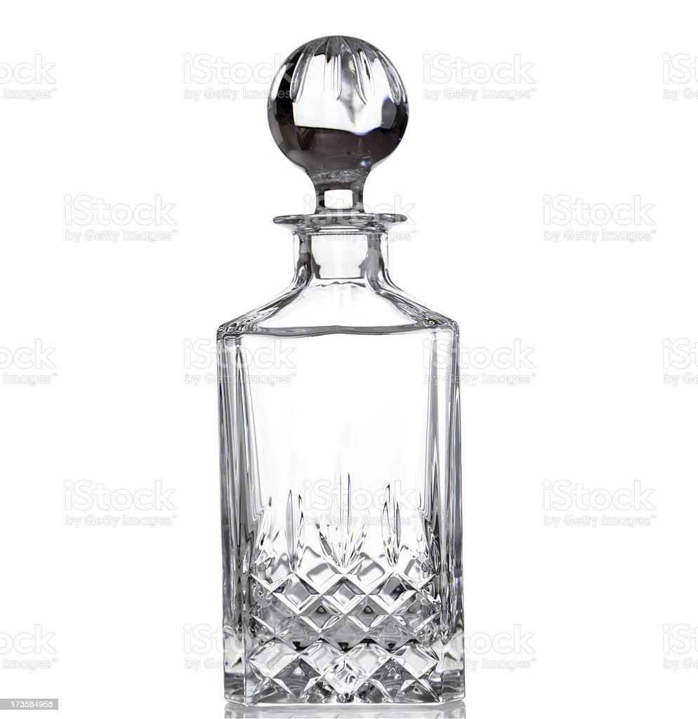 Crystal decanter empty royalty-free stock photo