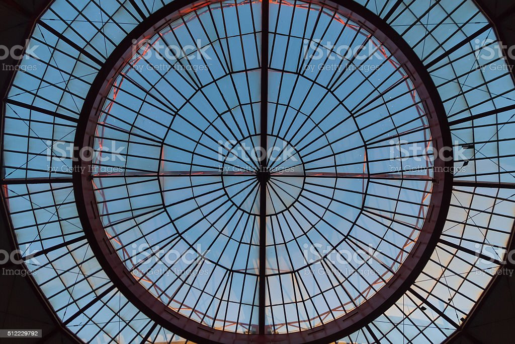 Crystal Dome Detail - Detalle de Cupula de Cristal stock photo