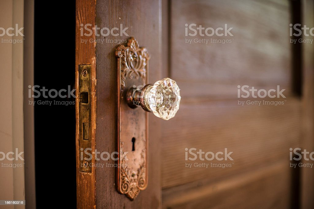 Crystal Door Knob stock photo