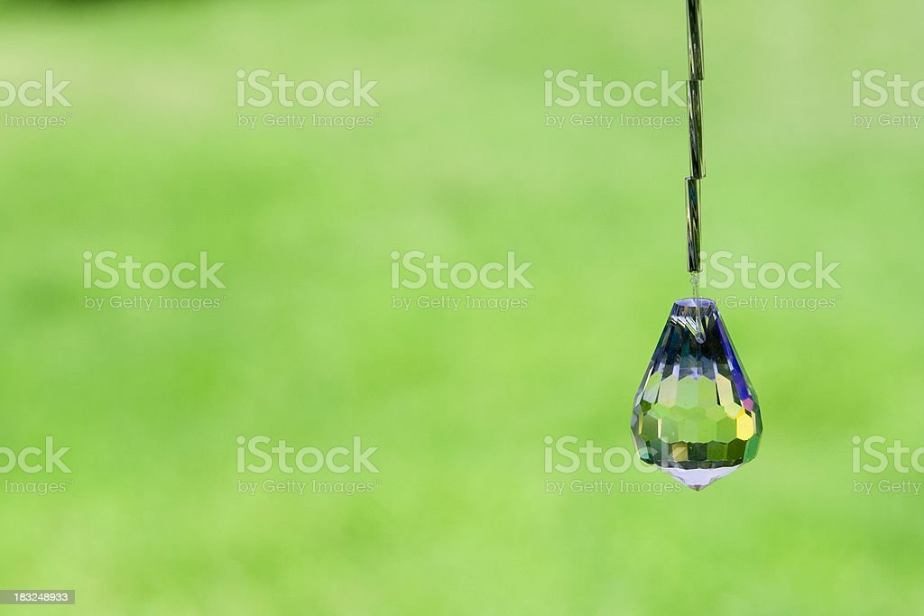 crystal drop over green royalty-free stock photo