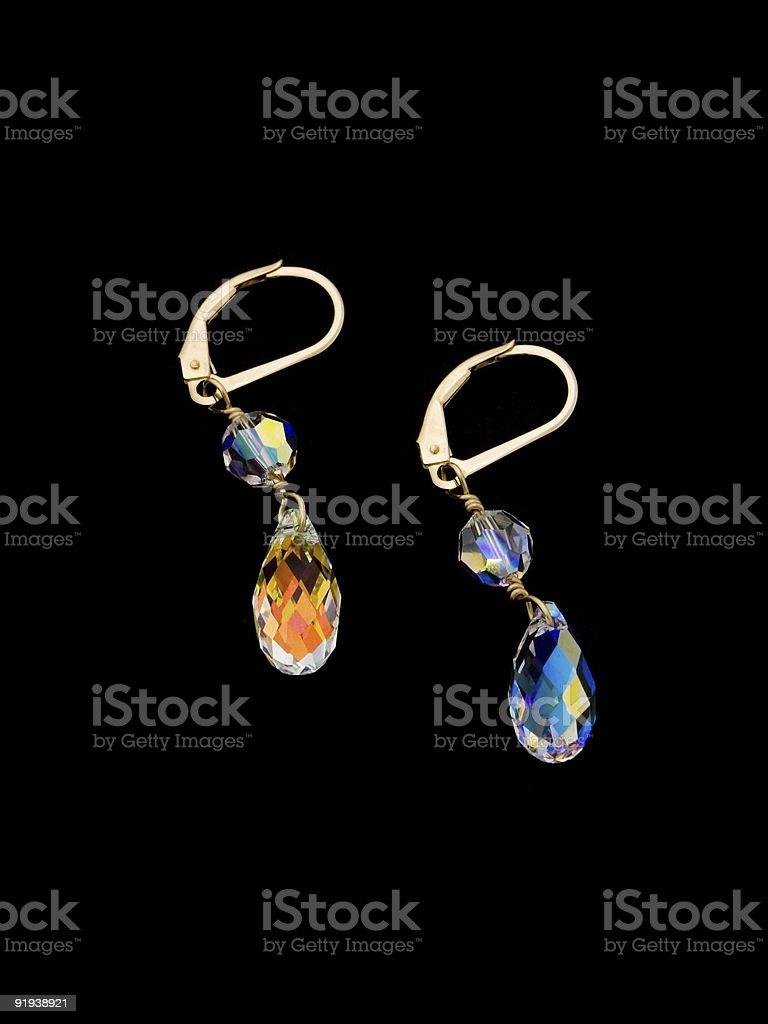 Crystal Earings Isolated stock photo