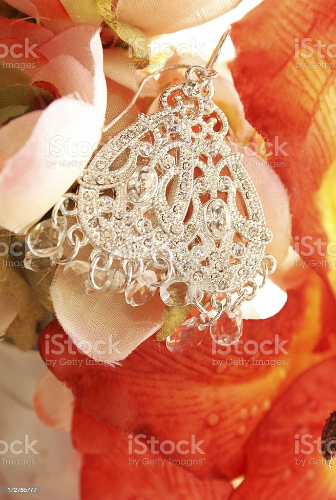 Crystal Earrings royalty-free stock photo