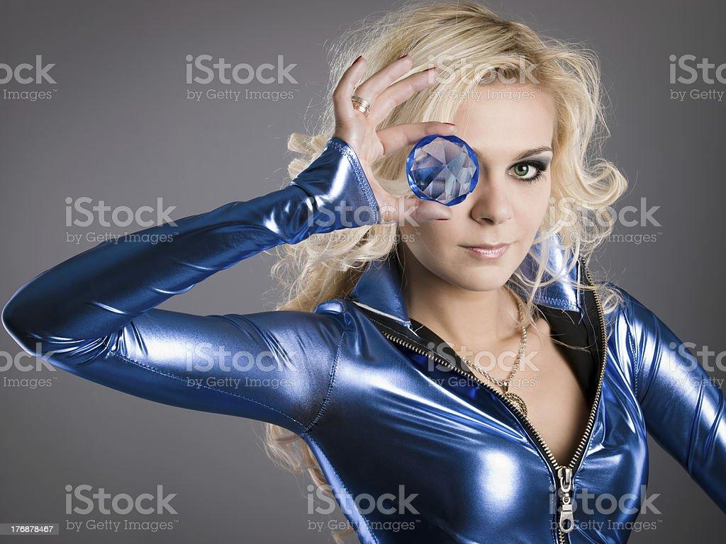 crystal eye royalty-free stock photo