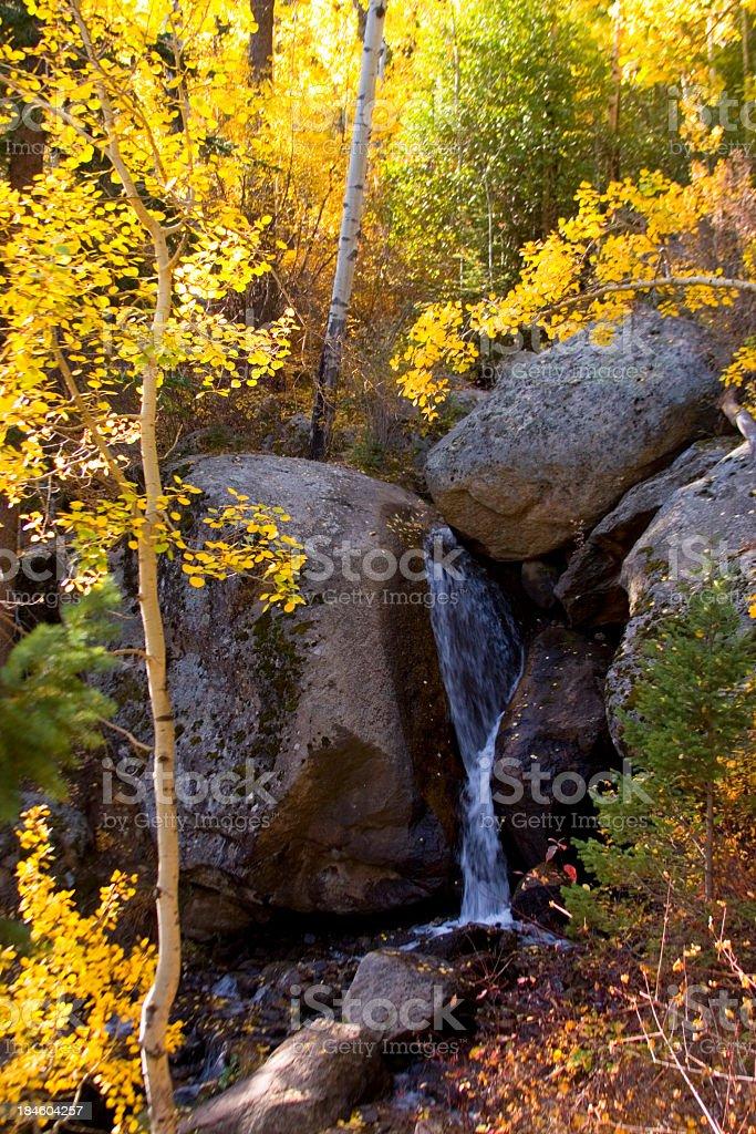 Crystal Falls in Autumn stock photo