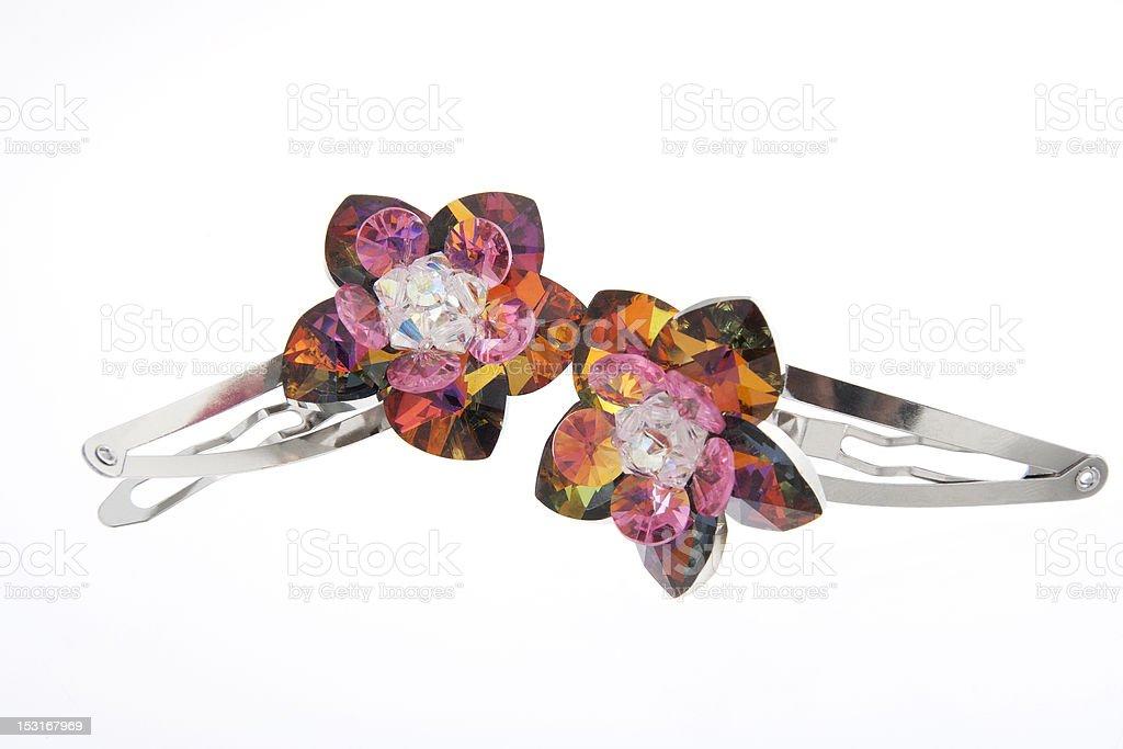 Crystal Flower Barrette stock photo