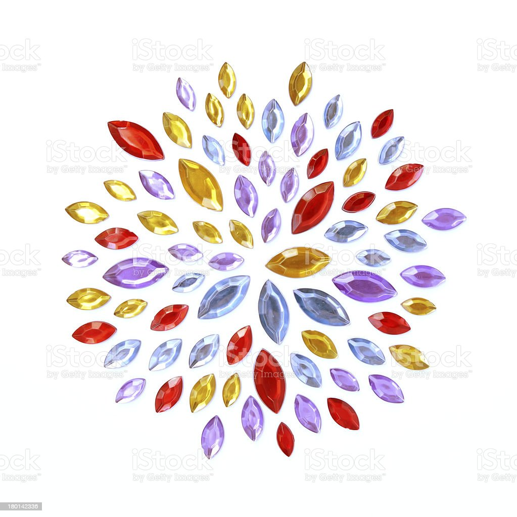 Crystal Gems flower pattern royalty-free stock photo