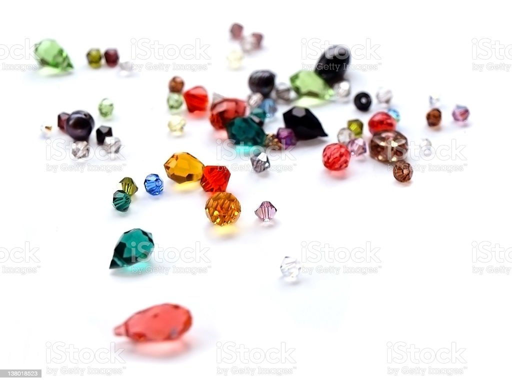 crystal gems swarovski, various colors, soft focus stock photo