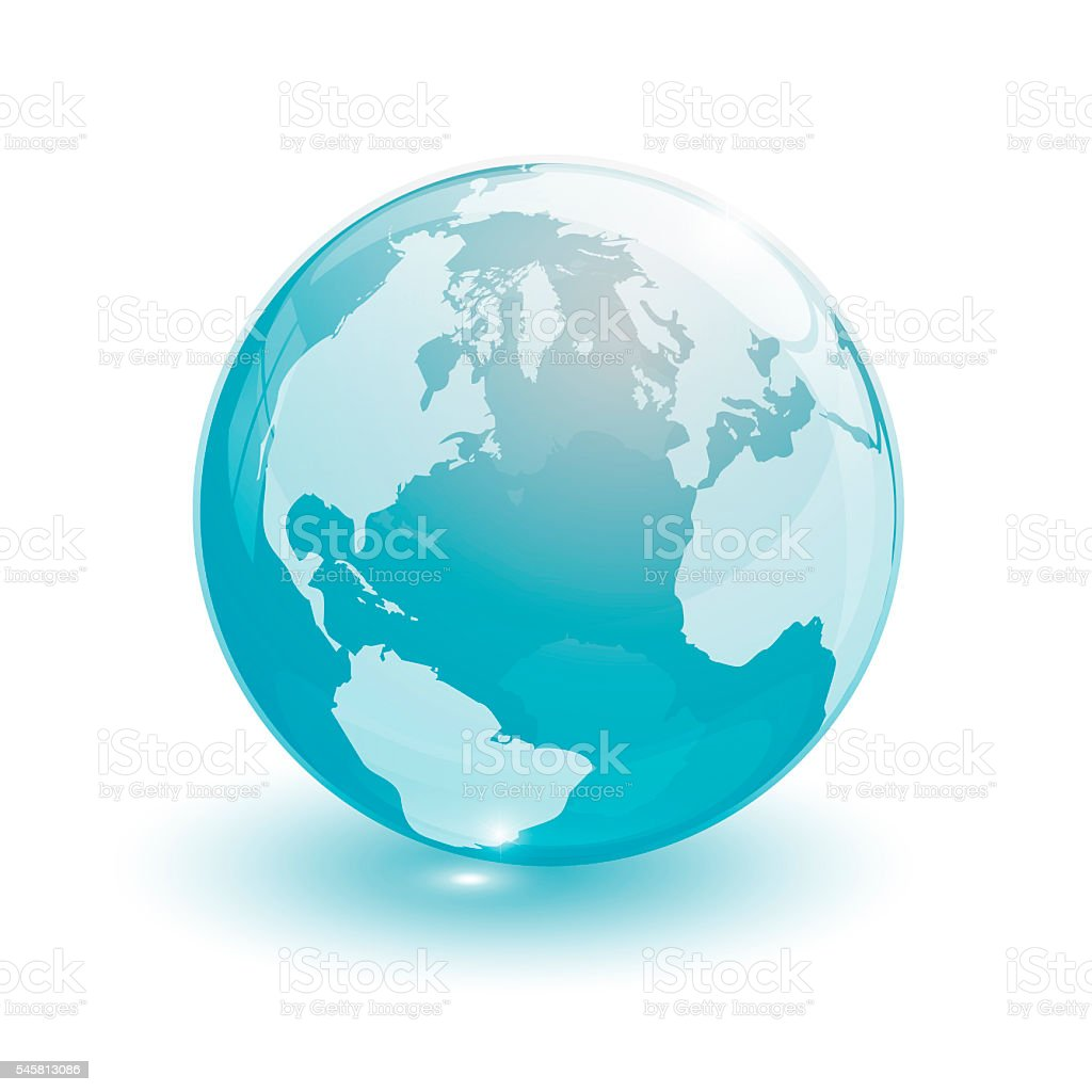 crystal glass ball for globus stock photo