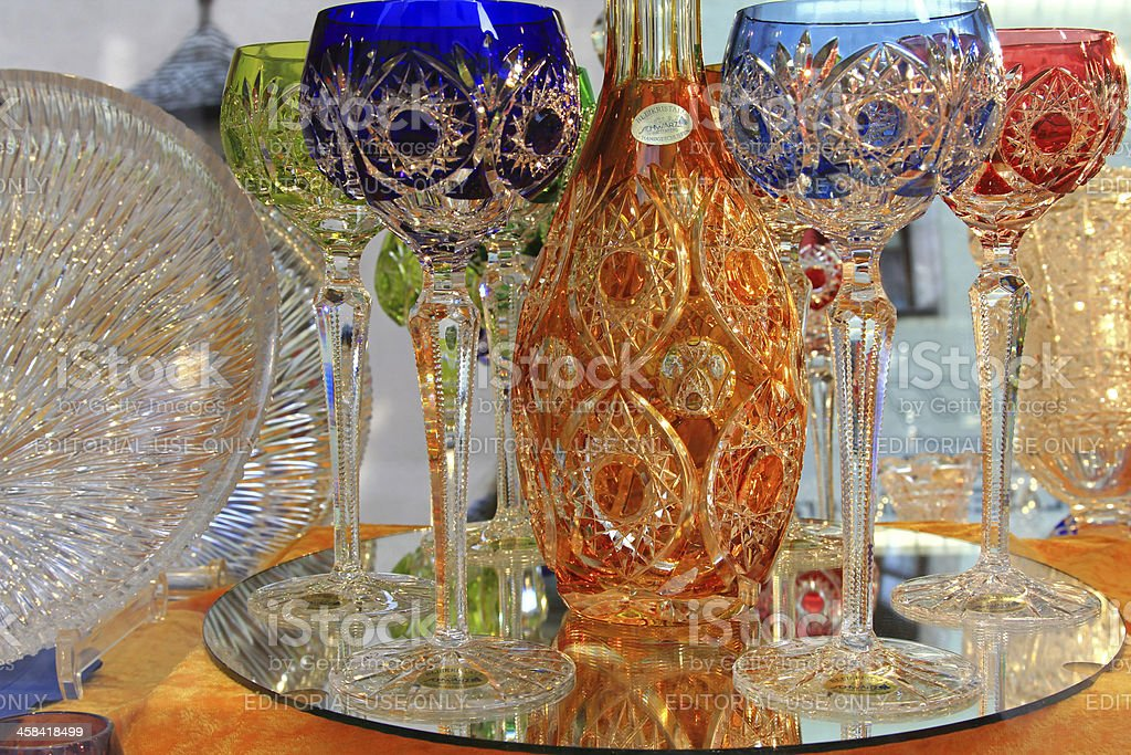 Crystal glass products from Kisslinger royalty-free stock photo