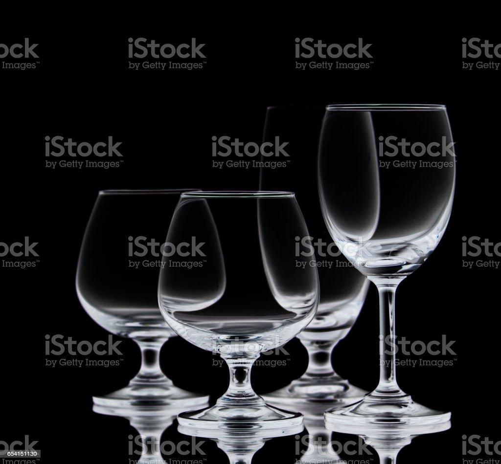 Crystal glasses. stock photo