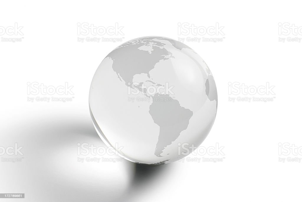 Crystal Globe stock photo