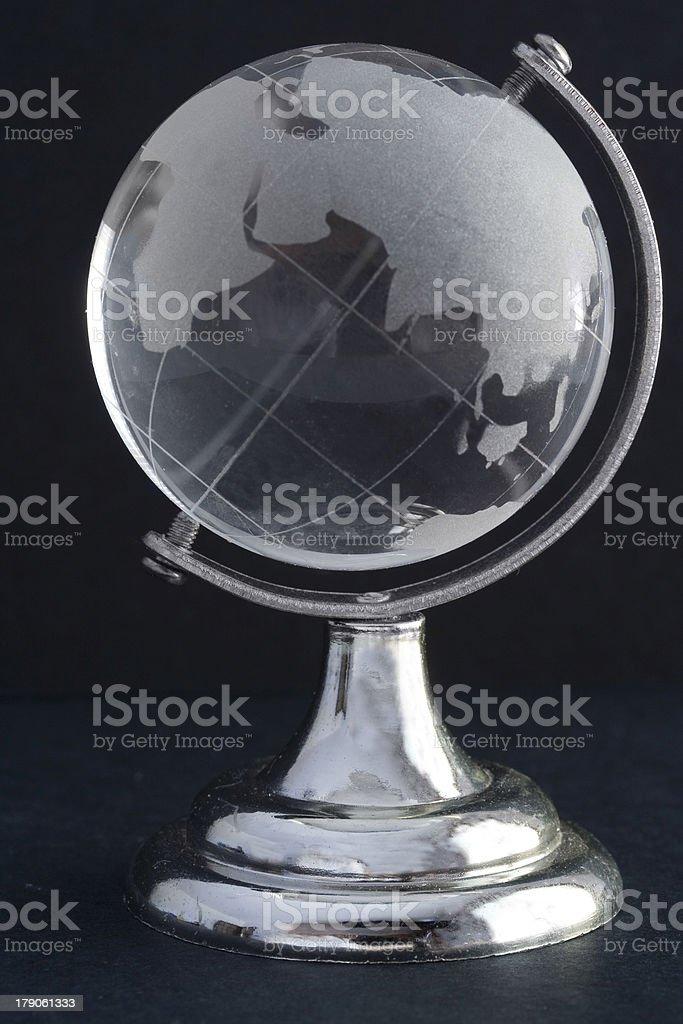 Crystal globe stock photo