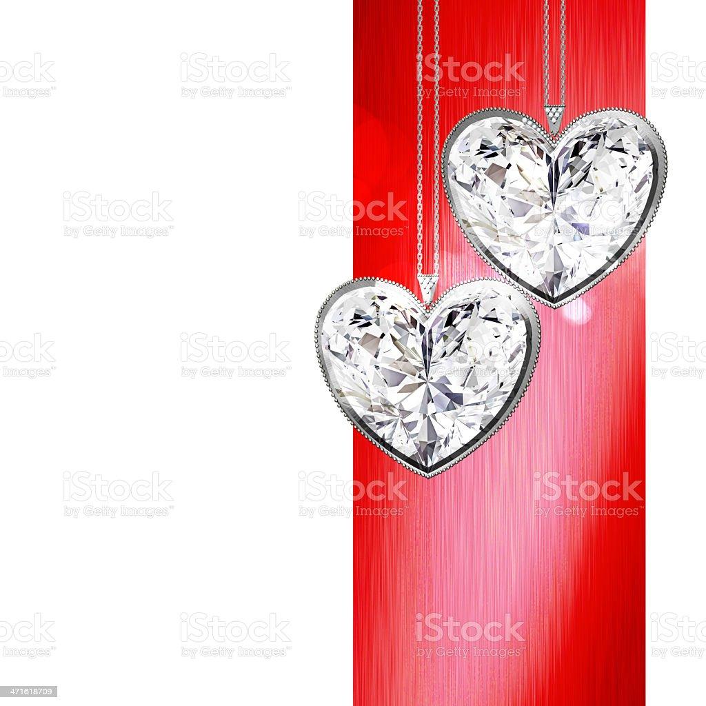 Crystal heart royalty-free stock photo