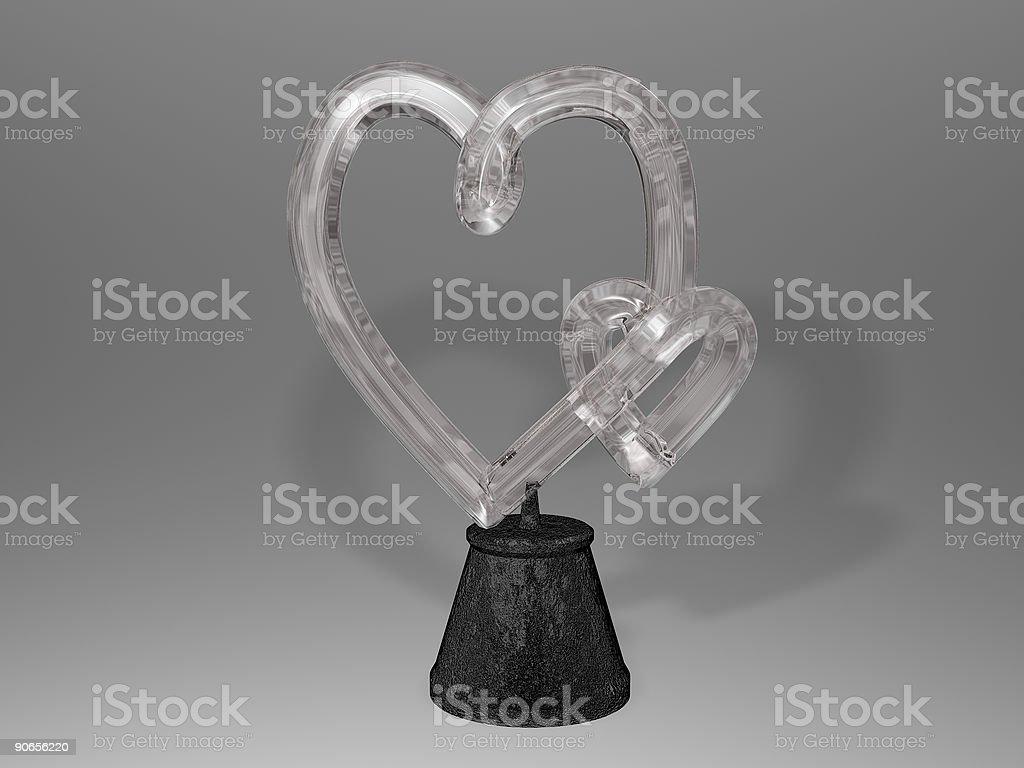 Crystal Hearts royalty-free stock photo