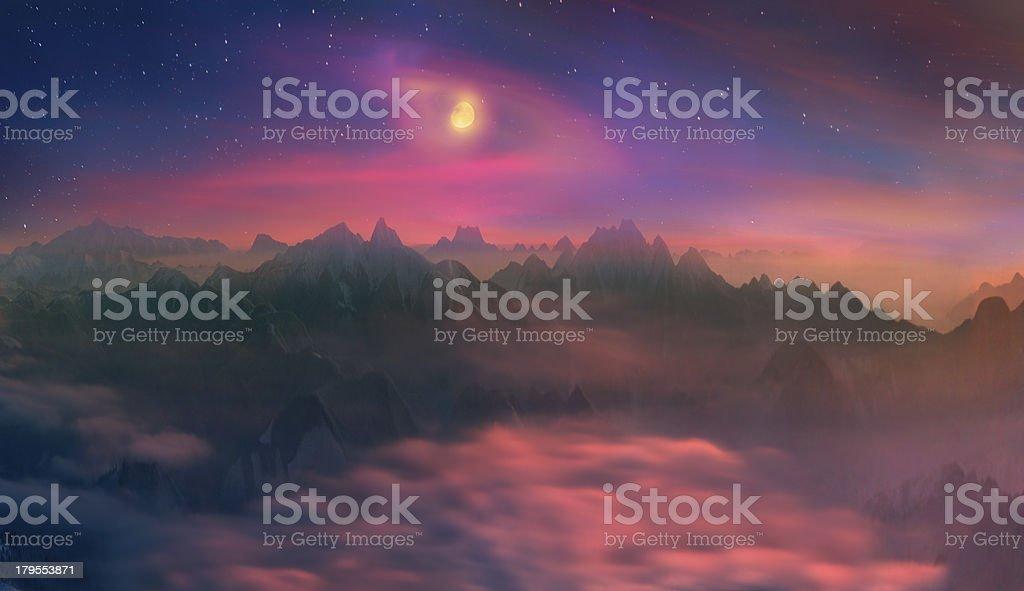 crystal horizons royalty-free stock photo