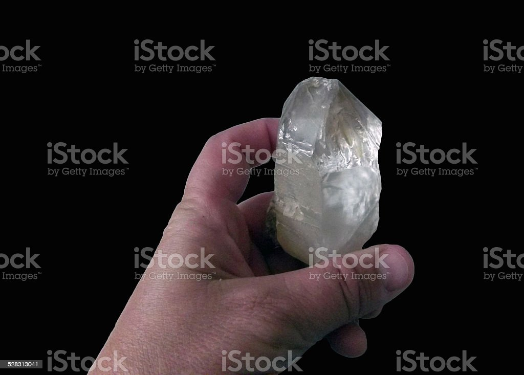 Crystal in Hand stock photo