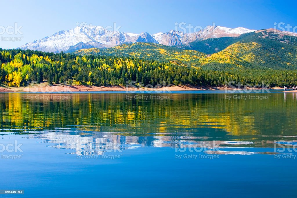 Crystal Lake on Pikes Peak stock photo