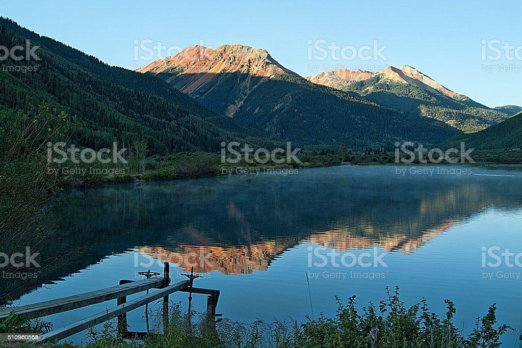 Crystal Lake Sunrise stock photo