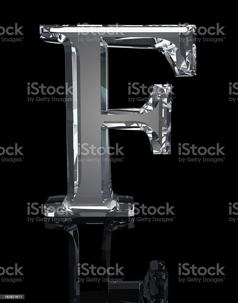 Crystal Letter F royalty-free stock photo