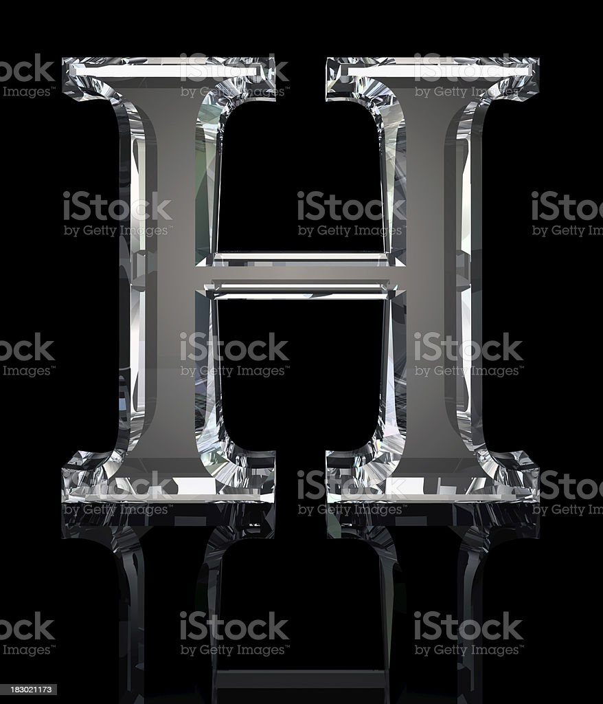Crystal Letter H royalty-free stock photo