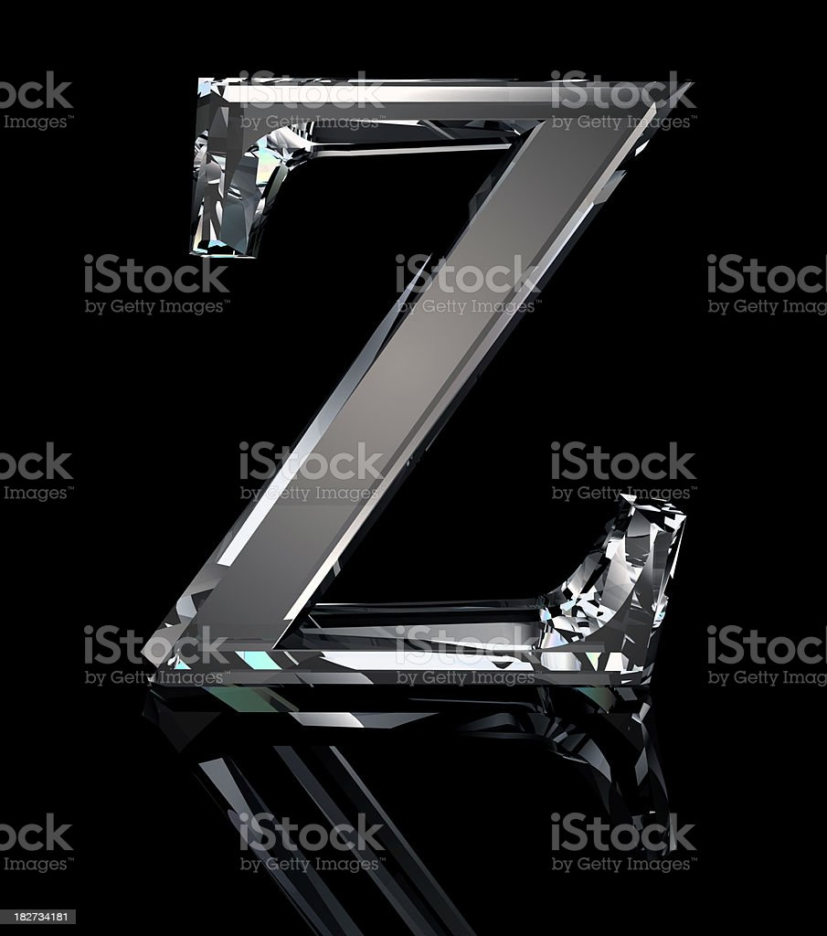 Crystal Letter Z royalty-free stock photo