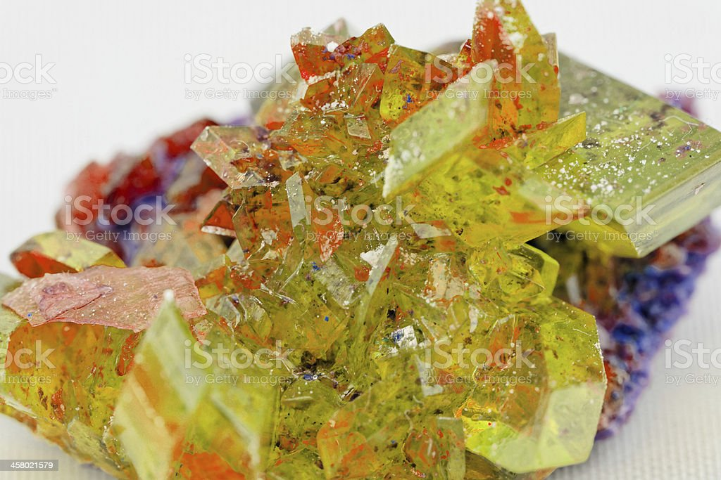 crystal macro photo in topaz color royalty-free stock photo
