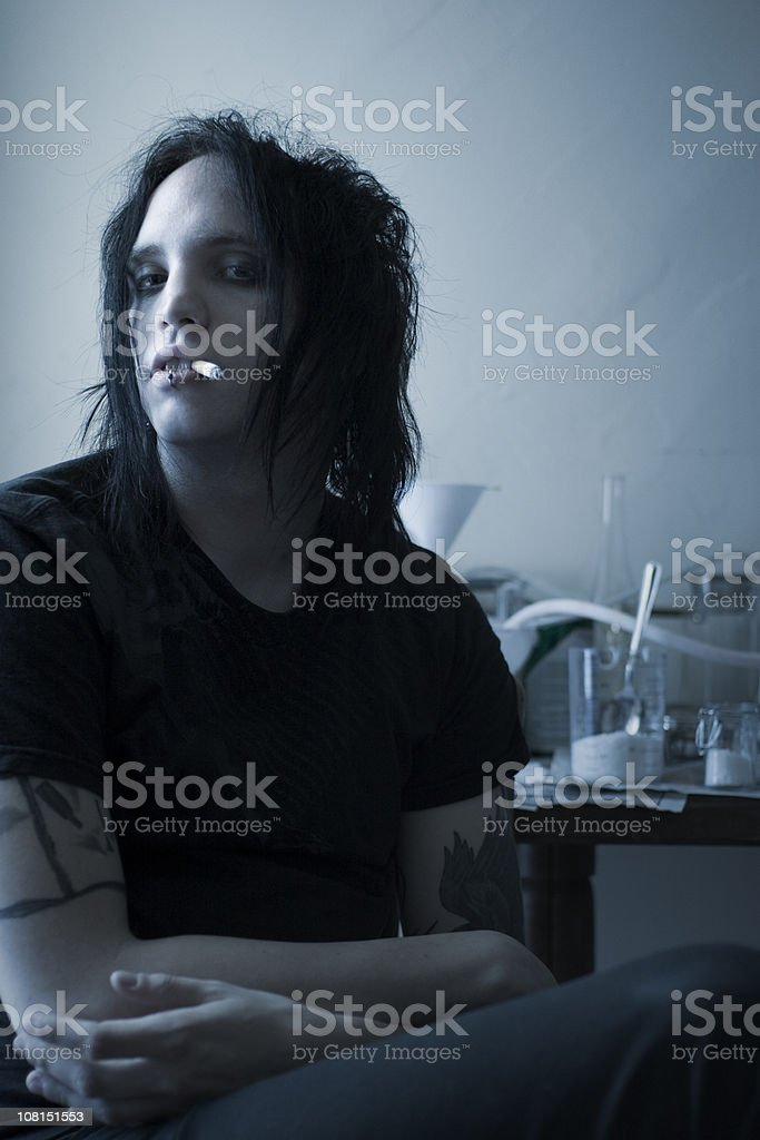 Crystal Meth Lab royalty-free stock photo
