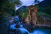 Crystal Mill Colorado at Dusk