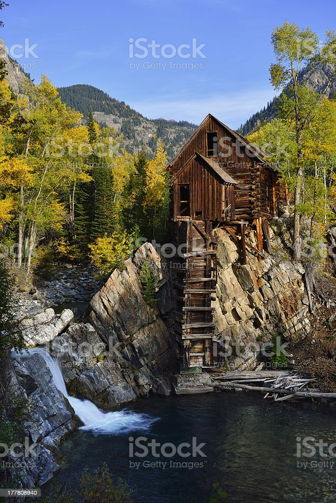 Crystal Mill in Colorado royalty-free stock photo