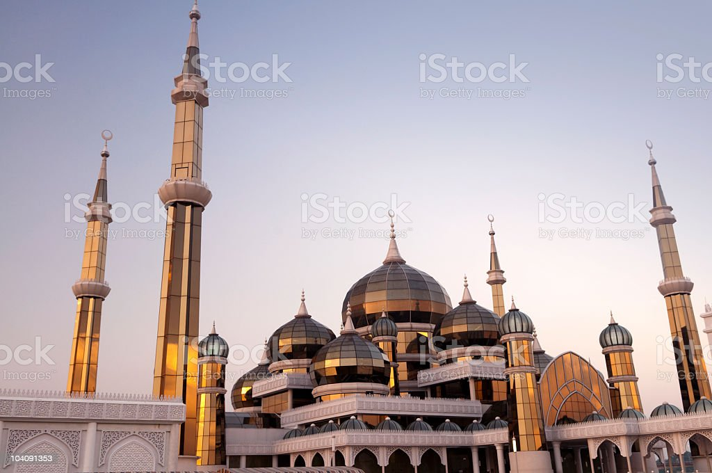 Crystal Mosque stock photo