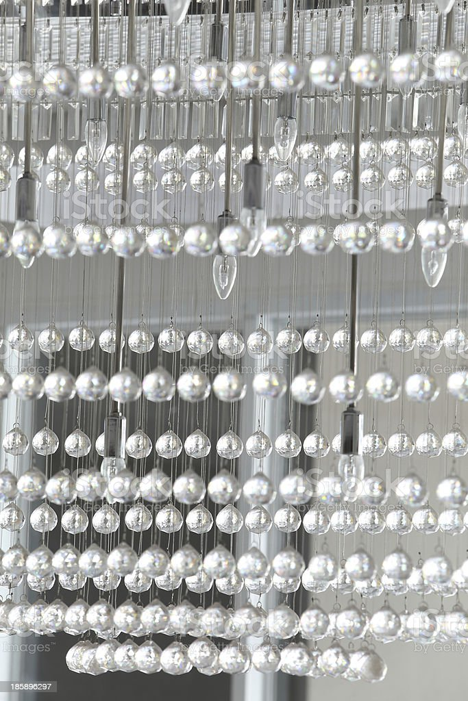 Crystal of modern Chandelier royalty-free stock photo
