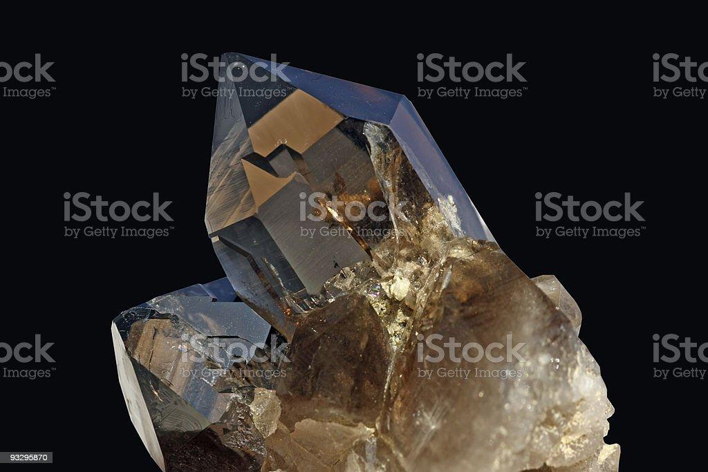 Crystal on black background stock photo