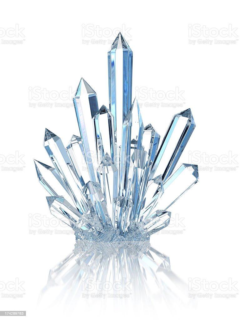 Crystal On White stock photo
