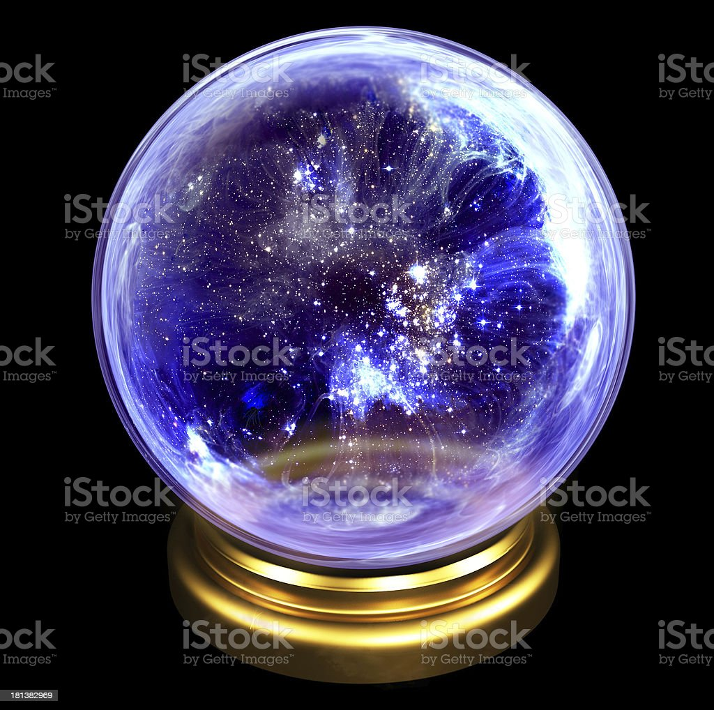 Crystal orb stock photo