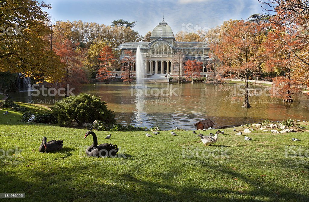 A Crystal Palace in Retiro Park, Madrid stock photo