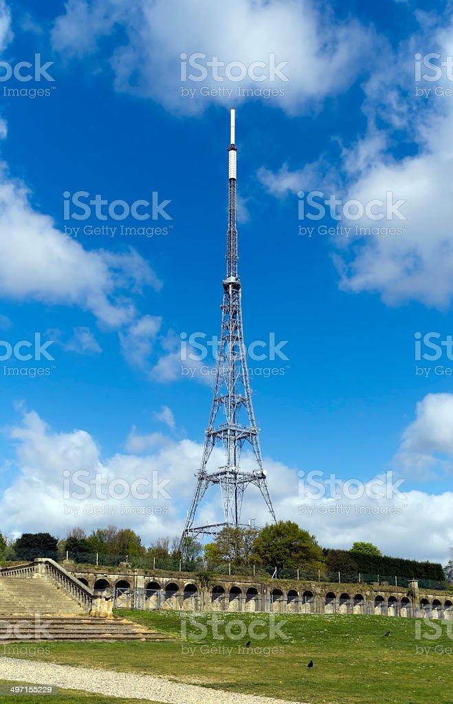 Crystal Palace mast stock photo