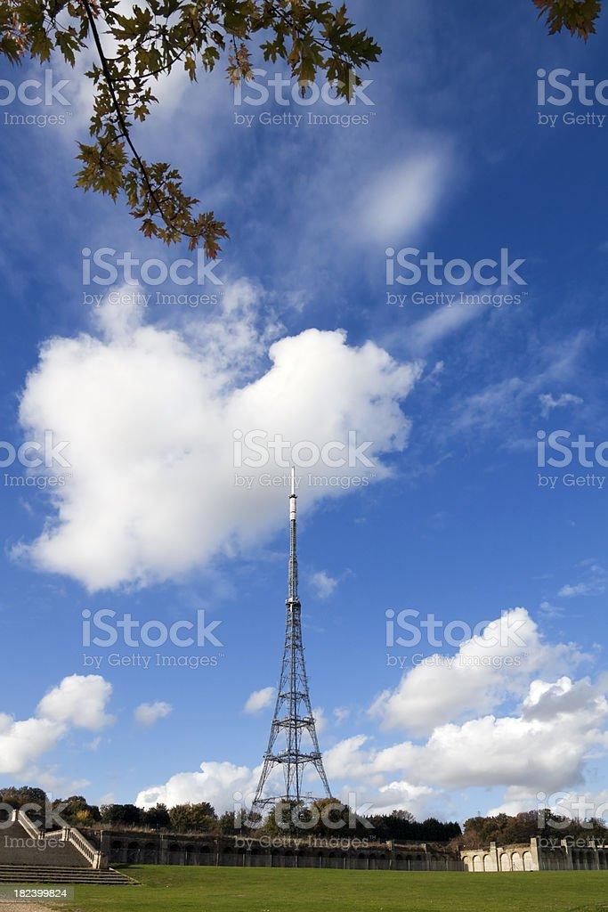 Crystal Palace ruins and TV mast stock photo