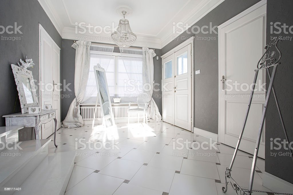 Crystal pendant in luxury interior stock photo