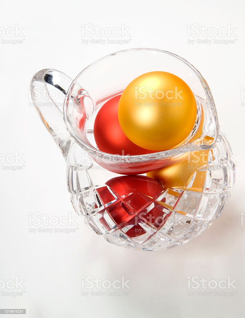 Crystal Pitcher of ornaments royalty-free stock photo