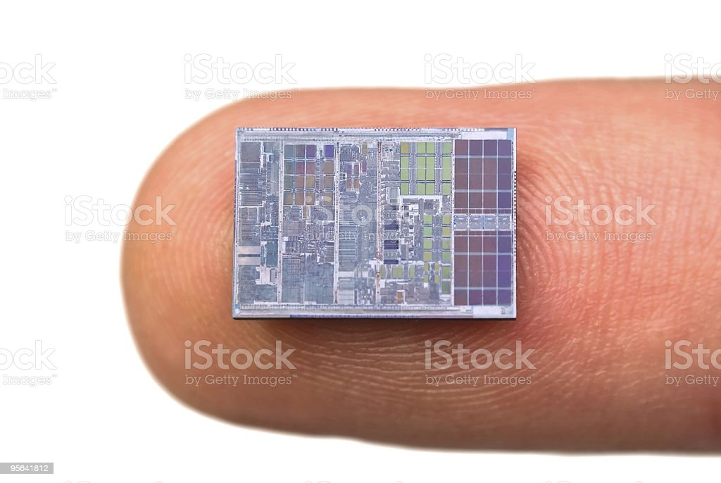 Crystal processor stock photo